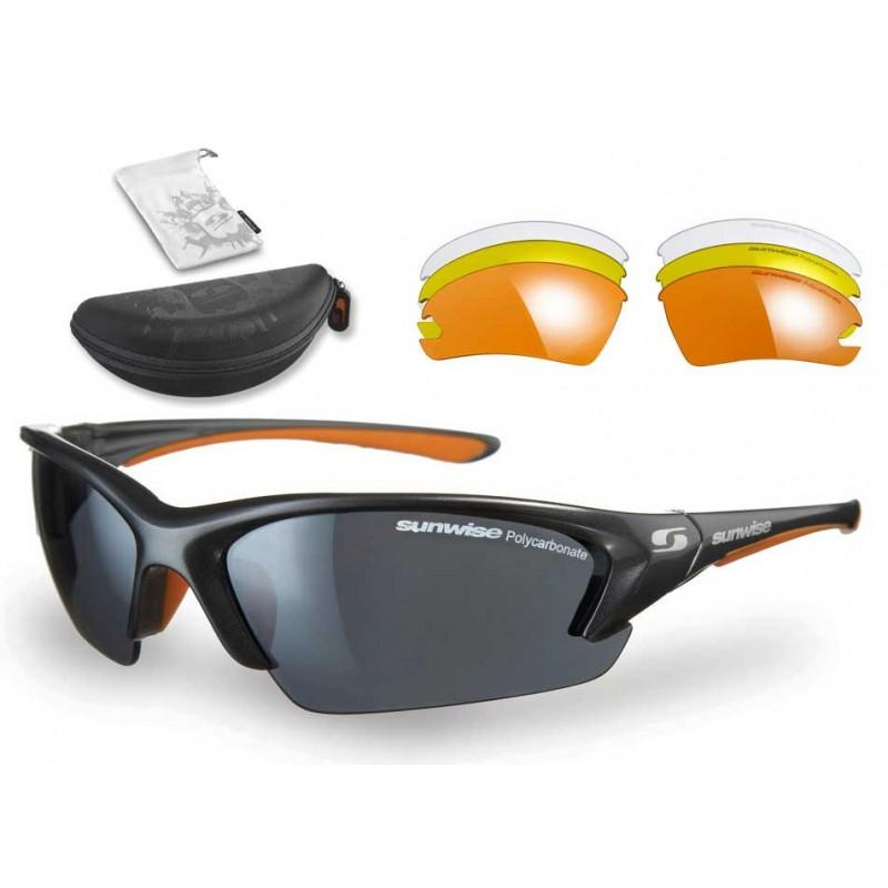 Sunwise Equinox Interchangeable Sunglasses (Grey) + FREE Hard