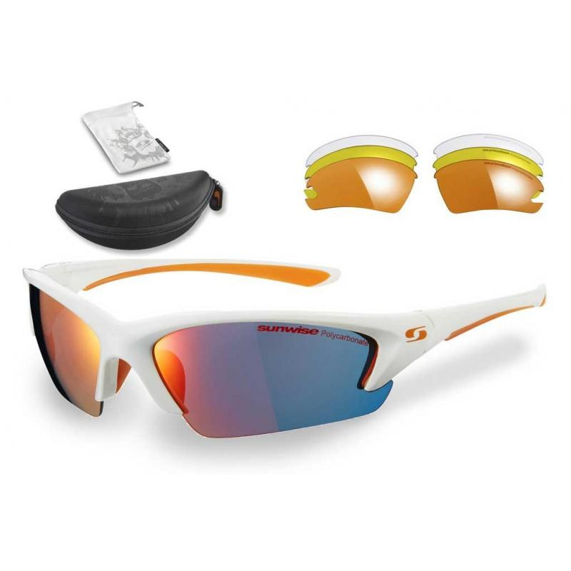 Sunwise Equinox RM Interchangeable Sunglasses (White) + FREE