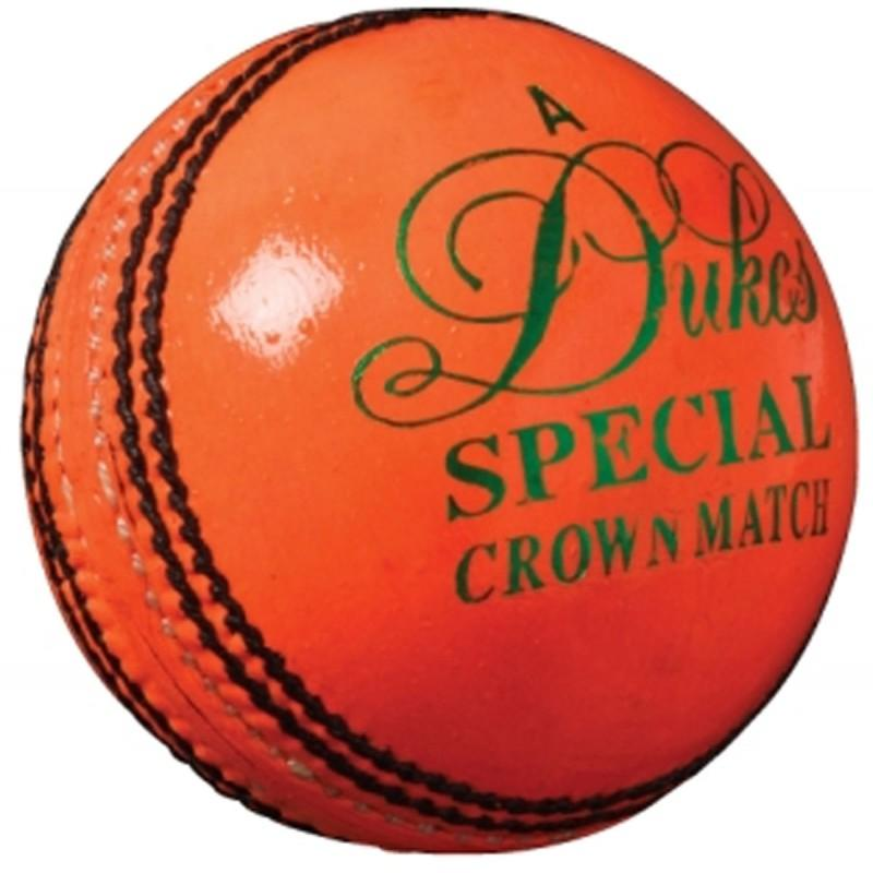 Dukes Special Crown Match 'A' Cricket Ball - Orange
