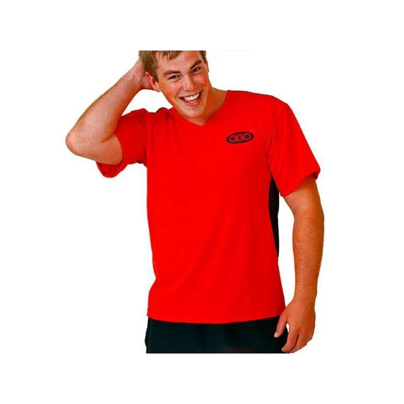 OBO Tight Fit Poly Smock - Red/Black