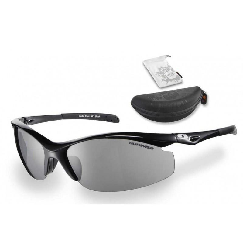 Sunwise Peak Sunglasses (Black) + FREE Hard Case
