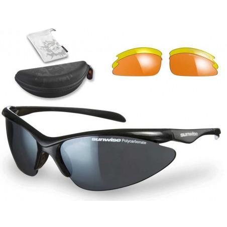 Sunwise Thirst JUNIOR Interchangeable Sunglasses (Black) + FREE