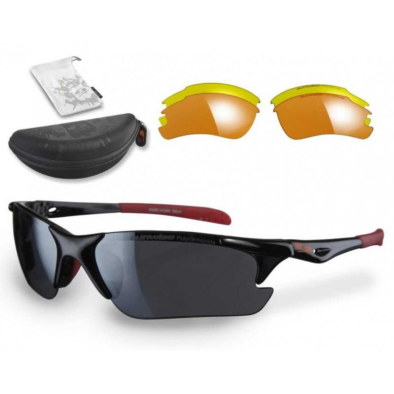 Sunwise Twister Sunglasses (Black) + FREE Hard Case