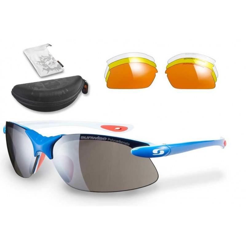 Sunwise Windrush Interchangeable Sunglasses (Blue) + FREE Hard