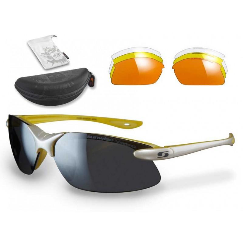 Sunwise Windrush Interchangeable Sunglasses (White) + FREE Hard