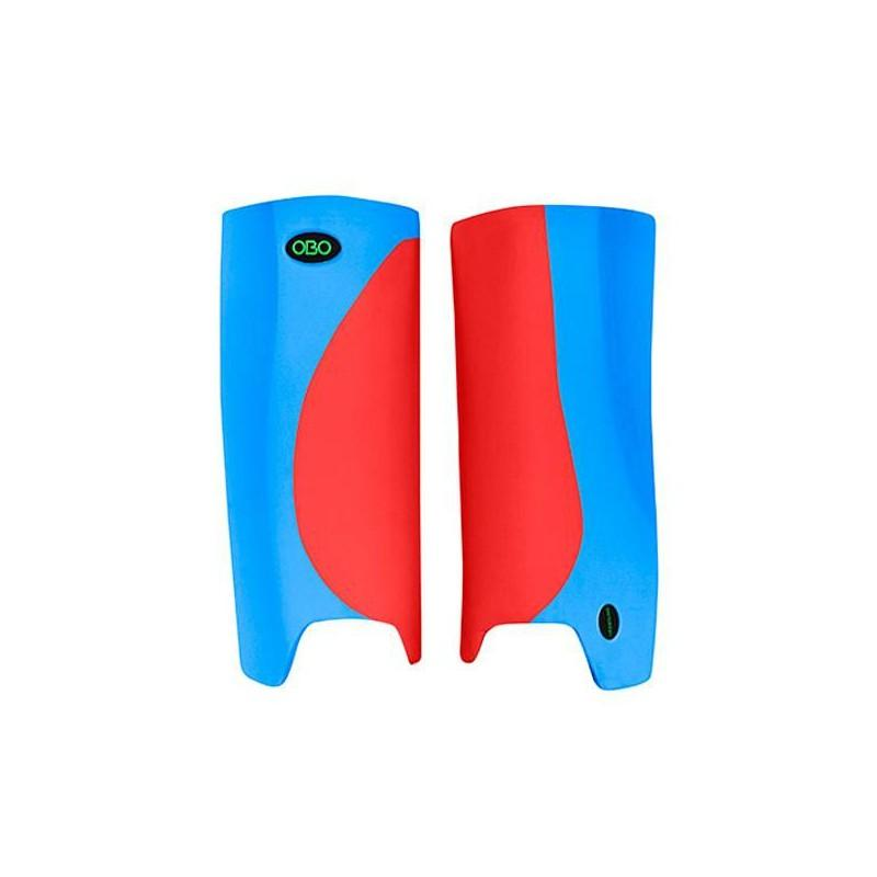 OBO Robo Hi-Rebound Legguards - Red/Peron Blue