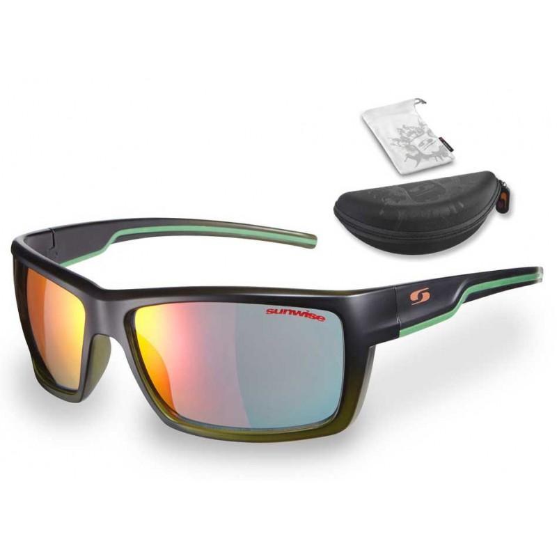 Sunwise Pioneer Sunglasses (Black) + FREE Hard Case