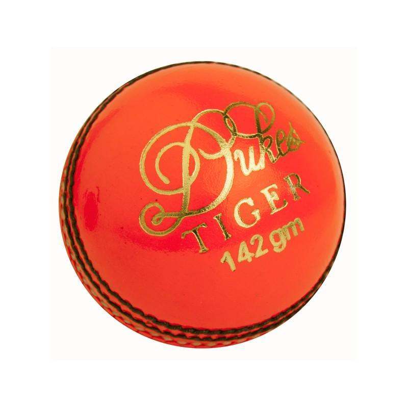 Dukes Tiger Junior Cricket Ball - Orange
