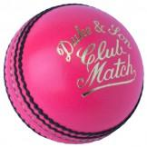 Dukes Club Match Cricket Ball - Pink