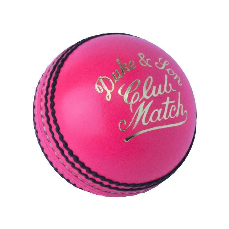 Dukes Club Match Cricket Ball - Pink