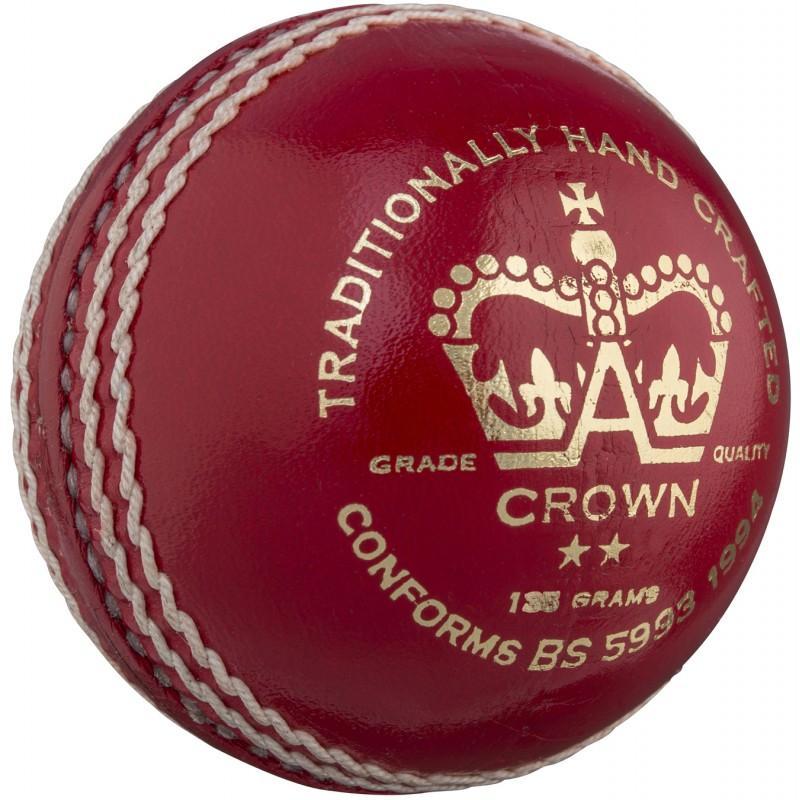 Gray Nicolls Crown 2 Star Cricket Ball - Red