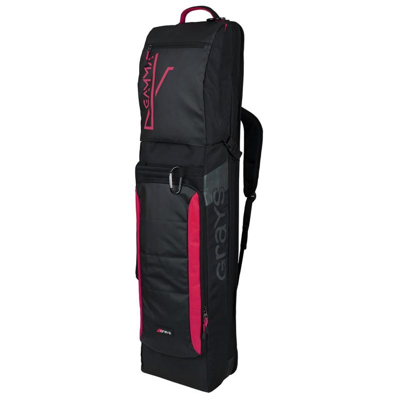 Grays Gamma Hockey Kit Bag - Black/Pink (2019/20)