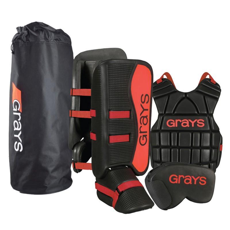 Grays G90 Junior Goalie Set - Black/Red