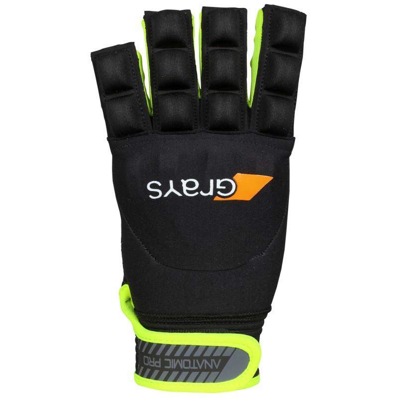 Grays Anatomic Pro Hockey Glove - Black/Fluo Yellow (2019/20)