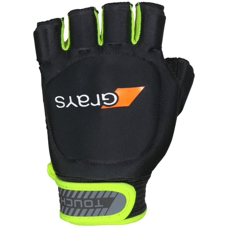 Grays Touch Hockey Glove - Right Hand Black/Fluo Yellow (2019/20)