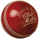 Dukes Club Match Cricket Ball - Red