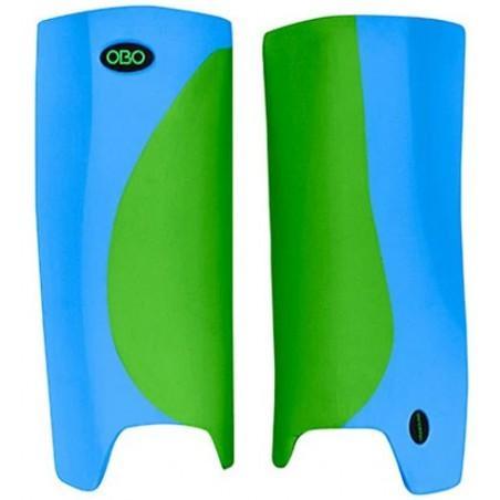 OBO Robo Hi-Rebound Legguards - Green/Peron Blue