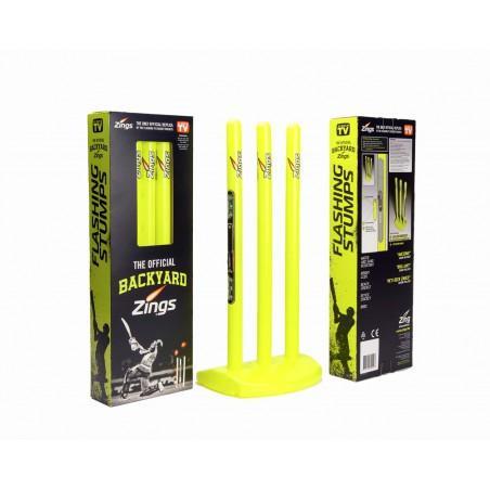 Zings Flashing Cricket Stump, Wickets & Base