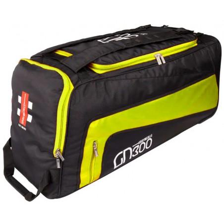 Gray Nicolls GN300 Wheelie Bag - Black/Fluo Yellow (2020)