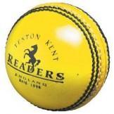 Readers Indoor Yellow Leather Cricket Ball