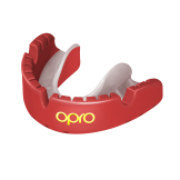 OPRO Self-Fit GEN4 Gold Braces Mouthguard - Red/Pearl