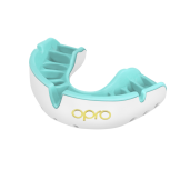 OPRO Self-Fit GEN4 Gold Mouthguard - White/Mint