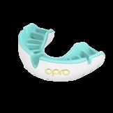 OPRO Self-Fit GEN4 Gold Mouthguard - White/Mint