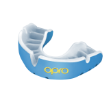 OPRO Self-Fit GEN4 Gold Mouthguard - Sky Blue/ Pearl