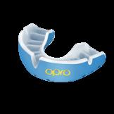 OPRO Self-Fit GEN4 Gold Mouthguard - Sky Blue/ Pearl