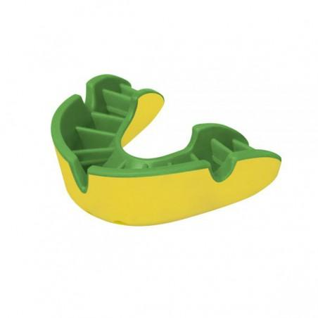 OPRO Self-Fit GEN4 Junior Silver Mouthguard - Green/Yellow