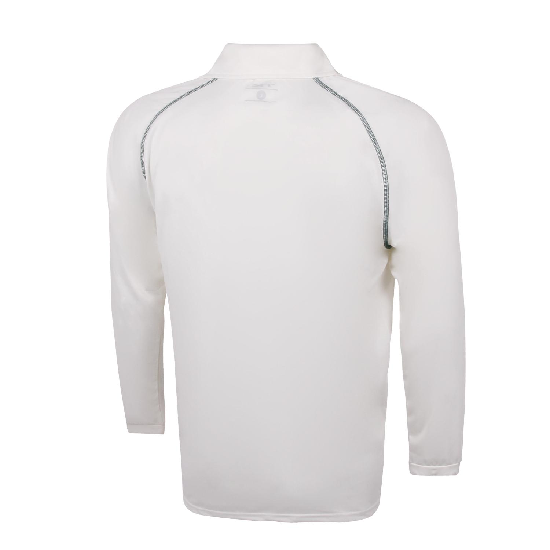 Kookaburra Cricket Long Sleeve Shirt Navy Trim  Size Large