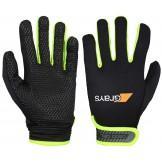 Grays G500 Gel Hockey Gloves - Black/Neon Yellow (2016/17)