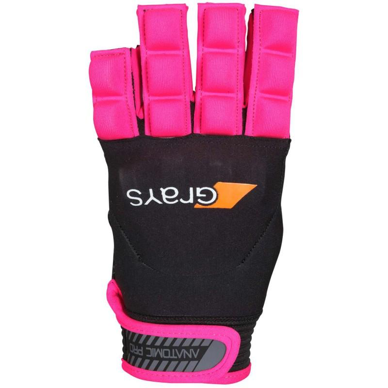 Grays Anatomic Pro Hockey Glove - Black/Pink (2016/17)