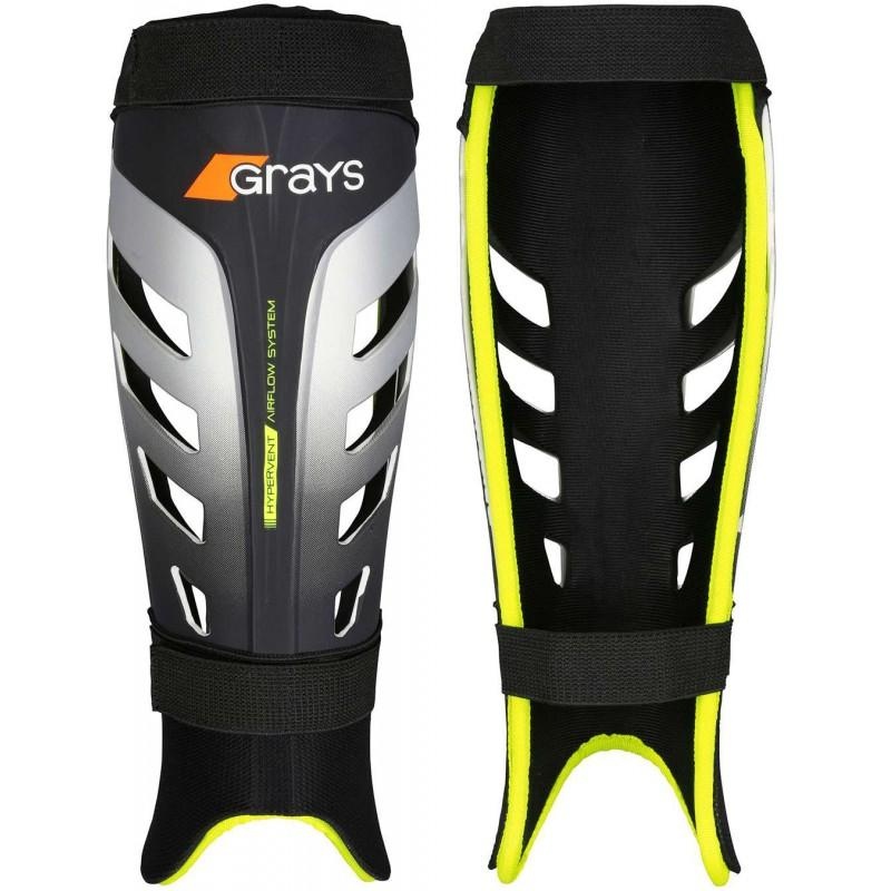 Grays G800 Shinguards - Black/Neon Yellow (2016/17)