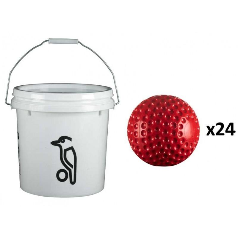 Kookaburra Bowling Machine Balls (24 + Bucket)