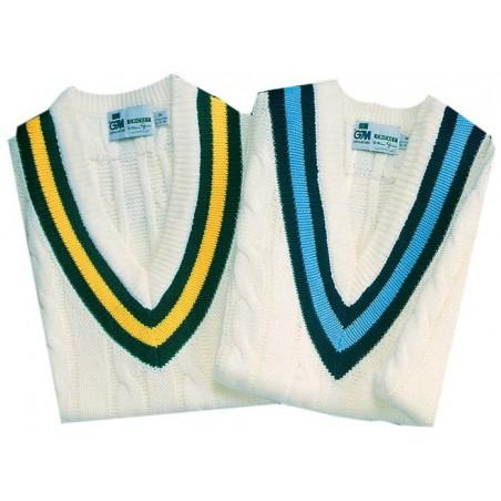 Long Sleeve Trimmed Cricket Jumper