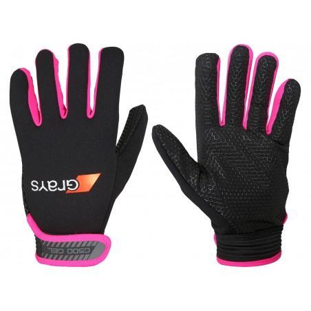 Grays G500 Gel Hockey Gloves - Black/Fluo Pink (2017/18)