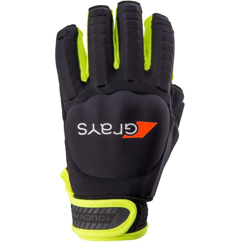 Grays Touch Pro Hockey Glove - Black/Fluo Yellow (2017/18)