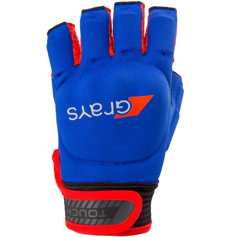 Grays Touch Hockey Glove - Navy/Fluo Red (2017/18)