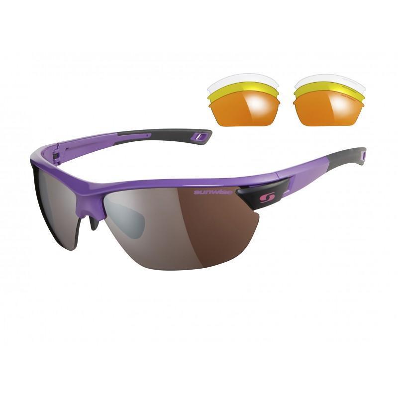 Sunwise Kennington Interchangable Sunglasses (Purple) + FREE Hard Case