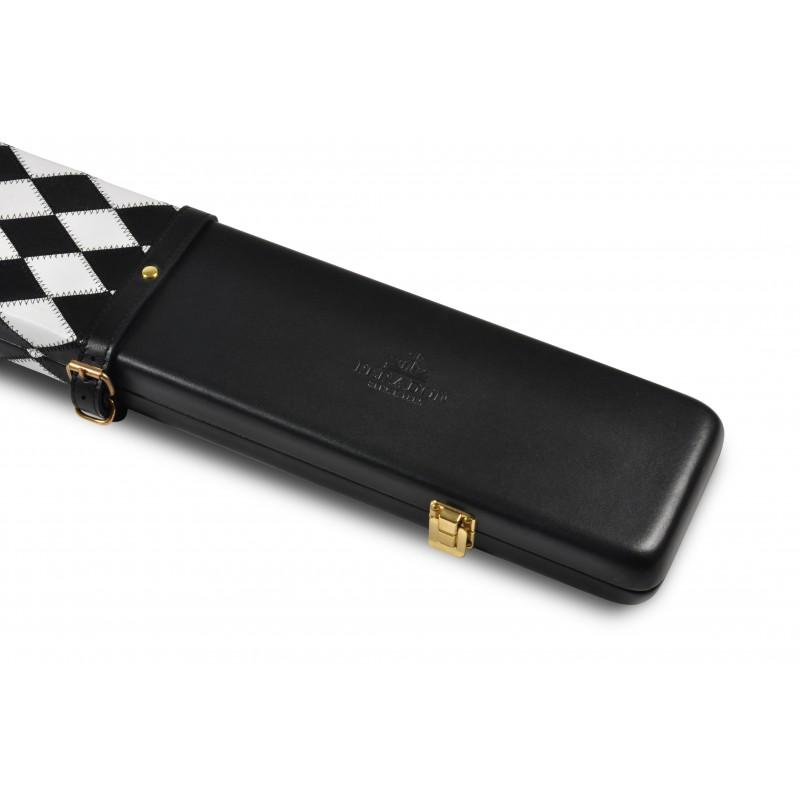 Peradon Black & White Diamonds 3/4 Leather Case