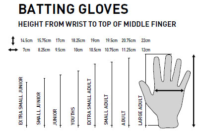 GM Gloves Size Guide